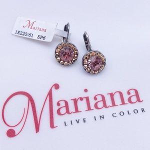 Mariana Swarovski Crystal Silver Earrings - Iris